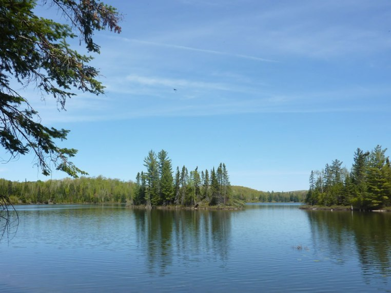View across the lake from the Artesia Peaks Estates