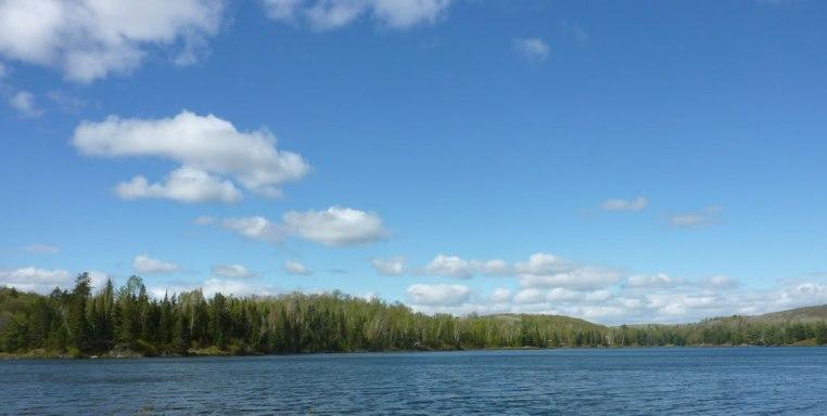 Beautiful view across the water at Artesia Peaks