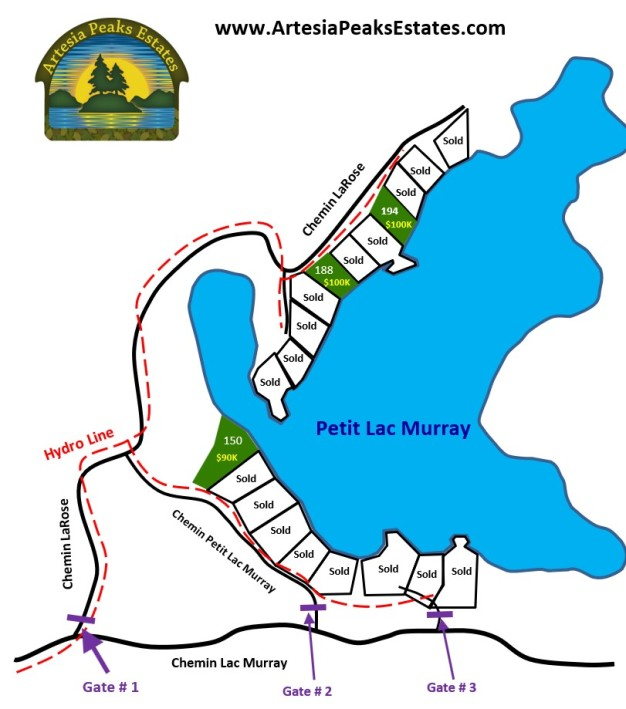 2021-03-06 - Petit Lac Murray Cottage Lots
